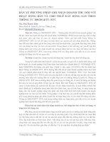 BÀN VỀ PHƯƠNG PHÁP GHI NHẬN DOANH THU ĐỐI VỚI HOẠT ĐỘNG BÁN VÀ CHO THUÊ BẤT ĐỘNG SẢN THEO THÔNG TƯ 2002014TT BTC