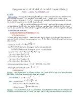 Dạng toán về cơ sở vật chất và cơ chế di truyền   sinh học 12   vũ văn việt