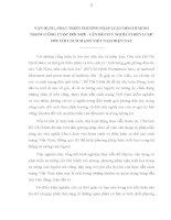 TIỂU LUẬN TRIẾT   vận DỤNG, PHÁT TRIỂN PHƯƠNG PHÁP LUẬN hồ CHÍ MINH TRONG CÔNG CUỘC đổi mới   vấn đề CHIẾN lược đối với CMVN TRONG CÔNG CUỘC đổi mới