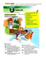 Tiếng Anh lớp 7 Chương trình mới Unit 2: Health
