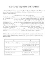 Bài tập môn tiếng anh lớp 8 (27)