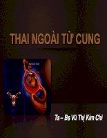 Bài Giảng Thai Ngoài Tử Cung