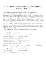 Bài tập môn tiếng anh lớp 7 (26)