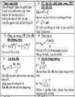 công thức giải nhanh môn  lý 3