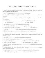 Bài tập môn tiếng anh lớp 8 (33)