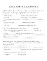 Bài tập môn tiếng anh lớp 8 (43)