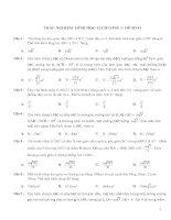 950 câu trắc nghiệm hình học 12 kèm đáp án