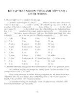 Bài tập môn tiếng anh lớp 7 (4)