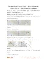 Giải bài tập trang 52, 53, 54 SGK Toán 4: Vẽ hai đường thẳng vuông góc - Vẽ hai đường thẳng song song