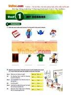 Bài tập Tiếng Anh lớp 7 Chương trình mới Unit 1: My hobbies