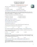 BTSinh chuyên đề 2 tỷ lệ KG, giao tử, kiểu hình   sinh học 12   ngô hà vũ
