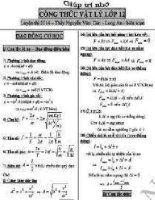 công thức giải nhanh môn  lý 2