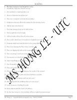 Bài tập tổng hợp các dạng câu bị động
