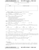 Đề kiểm tra hình học 12 chương1 15 ( trắc nghiệm và tự luận)