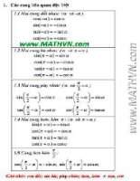 các công thức toán học phải nhớ   3