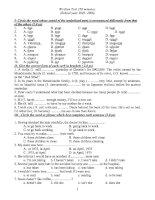 Written test 150 minutes (luyện thi HSG số 3)   tiếng anh 12   kieu van tinh