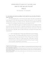 ẢNH HƯỞNG CỦA HÀN LƯU TẠI VIỆT NAM: NHÌN TỪ GÓC ĐỘ LIÊN NGÀNH