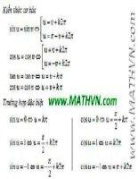 các công thức toán học phải nhớ  7