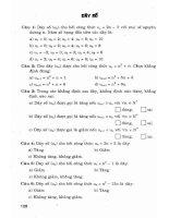 Phương pháp giải bài tập trắc nghiệm đại số và giải tích lớp 11 (chương trình nâng cao) phần 2