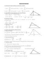 Trắc nghiệm hình học không gian lớp 12 ( ôn lý thuyết và bài tập trắc nghiệm)