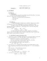 Bài tập hóa 11 thuyết điện ly hay