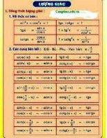 các công thức toán học phải nhớ  6