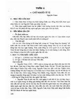 Thiết kế bài giảng ngữ văn 11 (tập 1   nâng cao) phần 2