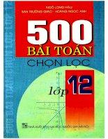500 bài toán chọn lọc lớp 12
