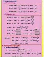 các công thức toán học phải nhớ  10
