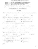 Câu hỏi và bài tập trắc nghiệm giải tích lớp 12 theo các chuyên đề ( Ứng dụng đạo hàm để khảo sát và vẽ đồ thị hàm số, Trắc nghiệm Hàm số luỹ thừa, hàm số mũ và hàm số lôgarit, trắc nghiệm Nguyên hàm, tích phân và ứng dụng, Trắc nghiệm Số phức)
