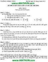 đề thi vào lớp 6 môn toán 2