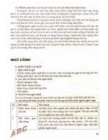 Trọng tâm kiến thức ngữ văn 11 (tập 1) phần 2