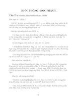 ĐỀ CƯƠNG QUỐC PHÒNG HỌC PHẦN 2
