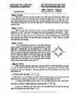 đề thi vật lý khối THCS3
