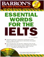 Barrons essential words for IELTS clear