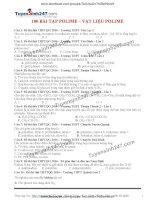100 bài tập chọn lọc chuyên đề polime, vâtk liệu polime có lời giải chi tiết tuyesinh247