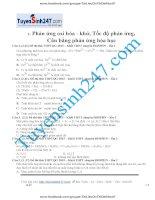133 bài tập chọn lọc chuyên đề phản ứng oxi hoa khử tốc độ phản ứng cân bằng phản ứng hoá học có lời giải chi tiết tuyensinh247
