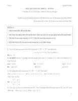 Bài giải một số bài tập về biến đổi tuyến tính và ma trận chuyển cơ sở