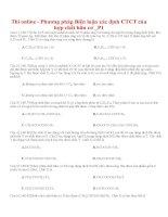 Thi online   phương pháp biện luận xác định CTCT của hợp chất hữu cơ  p1