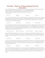26 thi online   nâng cao   phương pháp giải bài toán nhiệt nhôm