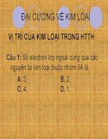 Chuyen de on thi TN dai cuong KL