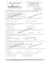 Đề thi thử THPT Quốc gia môn Sinh học trường Chuyên thái bình   lần 4