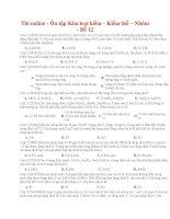 38 thi online   ôn tập kim loại kiềm – kiềm thổ – nhôm   đề 12