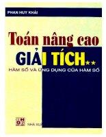 Toan nang cao giai tich tap 2 ham so va ung dung cua ham so (NXB dai hoc quoc gia 2001)   phan huy khai, 508 trang
