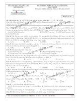 Đề thi thử THPT Quốc gia môn Vật lý Sở GDĐT kiên giang