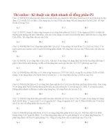 26 thi online   kĩ thuật xác định nhanh số đồng phân p2