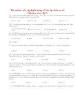 21 thi online   ôn tập đại cương về hóa học hữu cơ và hiđrocacbon   đề 2