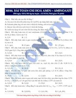 07 moon044 PhuongPhapGiaiBaiToanOXHAmin aminoaxit(baitaptuluyen CB de)