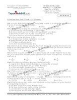 Đề thi thử THPT Quốc gia môn Vật lý trường THPT Trần hưng đạo, TP  HCM (tháng 10)
