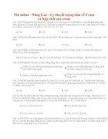 03 thi online   nâng cao   lý thuyết trọng tâm về crom và hợp chất của crom